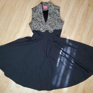 Glamour Bunny leopard top dress